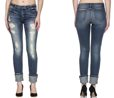 8f9d9224ea207 MISS ME JEANS ANKLE STRAIGHT CUFFED - M1001AT25 - Leon River Mercantile