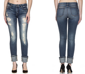 MISS ME JEANS ANKLE STRAIGHT CUFFED  - M1001AT25