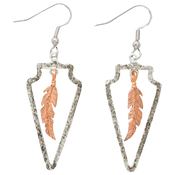 Due South Arrowheads w/ Copper Feathers  - 311-012