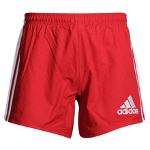 Adidas 3-Stripes Performance Rugby Shorts - Red