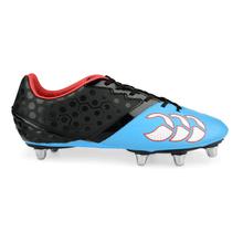 Canterbury Pheonix Club 8 Stud Rugby Boots - Black/Dresden Blue
