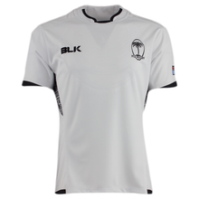 Fiji Rugby Home Rugby Jersey in white with black tribal print side panels - Front
