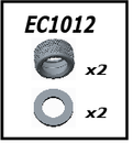 JLB Racing J3 SPEED Parts 1/10 Brushless Truggy EC1012 TYRE & INNER SPONG
