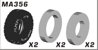 VKAR RACING Short Course Truck X10 V2 MA356 TYRE 01 & INNER SPONGE 1/10 RC monster truck CAR PARTS