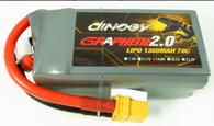 GIANT POWER DINOGY EX-LIGHT GRAPHENE 2.0 LC-4S1300XT 14.8V 4S 1300mah 70C Li-po Battery With XT60 Plug For RC FPV Racing Lipo Quotation