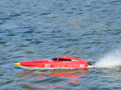 VOLANTEX VECTOR 80 HIGH SPEED BRUSHLESS BOAT READY SET (NO BATTERY) - RED (798-1)