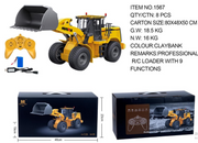 New Product!! Huina 1567 1/16 9 Channel Alloy Heavy Bulldozer