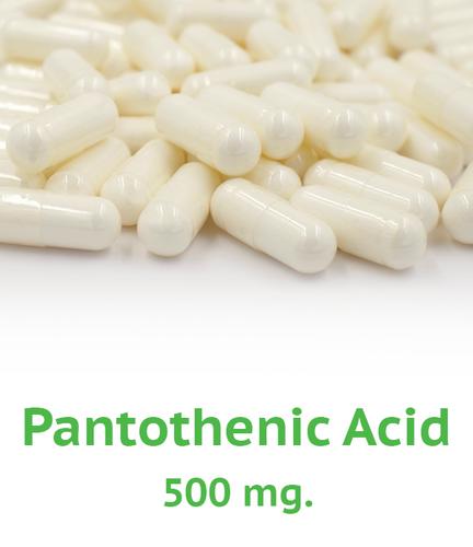 Pantothenic Acid (B-5) 500 mg Capsule