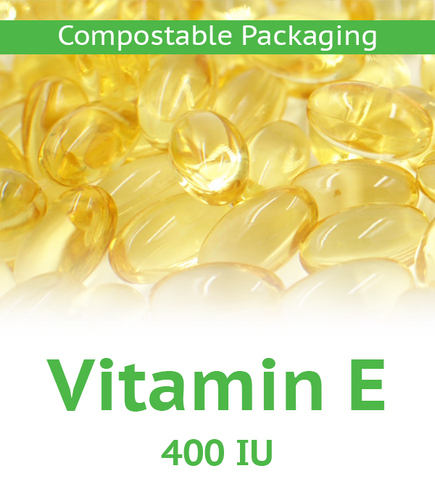 Vitamin E 400 IU Softgel - 100 Count Compostable Bag