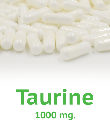 Taurine 1000 mg Capsule - 100 Count Bag