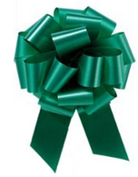"4"" Matte Pull Bows - 50 bows/case - Emerald Green"
