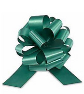 "4"" Matte Pull Bows - 50 bows/case - Forest Green"