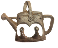 "Cast Iron kettle/watering can hooks 7""x6.5"" x2"""