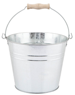 "Galvanized bucket with handle  11""Dx12""H (min. 3, 6/crtn)"