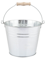 "Galvanized bucket w/handle 10""Dx9""H"