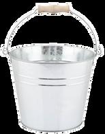 "Galvanized bucket w/handle 10""Dx9""H"