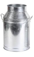 "Galvanized jug / flower vase 5""D (Top) 6.5""Dx9.5""H (min. 3,6/crtn)"