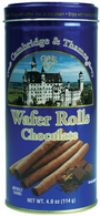 Cambridge & Thames wafer rolls - chocolate 114 gr., 12/cs