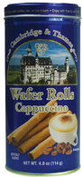 Cambridge & Thames wafer rolls - cappuccino 114 gr.,12/cs