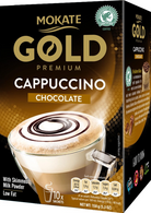 Mokate Premium Gold Cappuccino chocolate 10 sachets/box, 150 gr, 9 boxes/cs