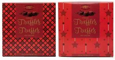 Chocolat Classique Elegant Truffles Red/Burgundy Box 200 gr.  10/cs