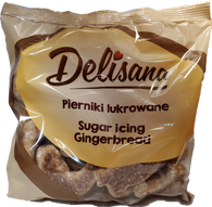 Delisana sugar coated gingerbread stars and rounds 180 gr., 24 per case