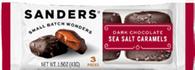 Sanders 3 pc Dark Sea Salt Caramels 43 gr., 20/cs