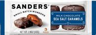 Sanders 3 pc Milk Sea Salt Caramels 43 gr., 20/cs