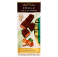Maitre Truffout Premium Bars (individually packaged mini bars) - Hazelnut 100 gr., 20/cs