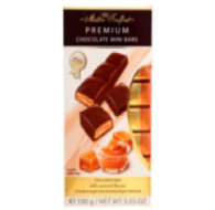 Maitre Truffout Premium Bars (individually packaged mini bars) - Caramel 100 gr., 20/cs