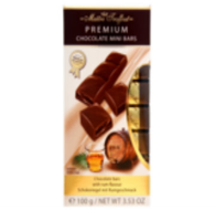 Maitre Truffout Premium Bars (individually packaged mini bars) - Rum 100 gr., 20/cs