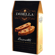 Dibella Biscotti (six individually packed biscotties) 187 gr., 10/cs, Caramello Macchiato