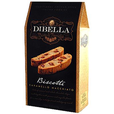 Dibella Biscotti (six individually packed biscotties) 187 gr., 10/cs, Caramello Macchiato