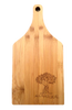 """Bamboo cutting board with """"All Natural"""" engraved 8""""x0.6""""x16"""""""