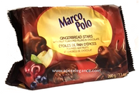 Marco Polo Gingerbread stars with fruit flavoured filling 200 gr., 15/cs