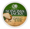 Sonoma Jacks Gourmet shelf stable Cheese Wedges - Garlic & Herb 113 gr., 12/cs