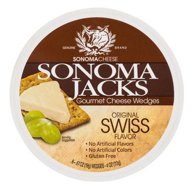 Sonoma Jacks Gourmet shelf-stable Cheese Wedges - Original Swiss 113 gr., 12/cs