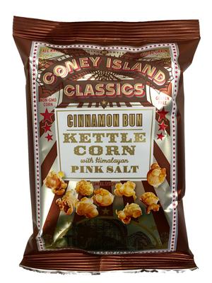 Coney Island Kettle Popcorn with Himalayan pink salt - Cinnamon Bun 42.5 gr., 36/cs