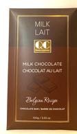 Qustom Confections Belgian recipe milk chocolate bar 100 gr., 24/cs