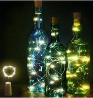 "20 warm white LED light garland - BOTTLE COVER, approx 2 m (78"") long (Bottles & 3 AA batteries not included)"