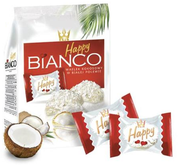 White chocolate coated wafers with coconut cream 140 gr., 10/cs