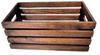 """Rectangular brown wood crate 14""""x8""""x6""""H"""