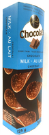 Chocola's crispy Belgian chocolate thins - Milk 125 gr., 12/cs