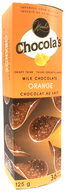 Chocola's crispy milk Belgian chocolate thins - Orange 125 gr., 12/cs