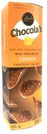 Chocola's crispy milk Belgian chocolate thins - Orange 125 gr., 12/cs