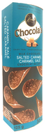 Chocola's crispy milk Belgian chocolate thins - Salted Caramel 125 gr., 12/cs
