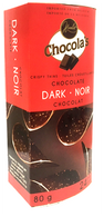 Chocola's crispy Belgian chocolate thins - Dark 80 gr., 8/cs