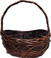 """Small Oval willow, chipwood & seagrass baskets S: 12""""x8.5""""x4""""H1x5""""H2x12""""OH"""