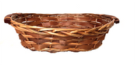 """Willow & Chipwood tray with wooden handles 14""""x9""""x4""""H"""