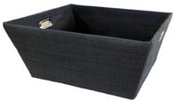 "Large Rectangular Black basket with matching fabric liner 16""x13""x8""H"